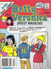 Cover Thumbnail for Betty and Veronica Comics Digest Magazine (Archie, 1983 series) #53
