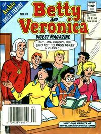 Cover Thumbnail for Betty and Veronica Comics Digest Magazine (Archie, 1983 series) #93