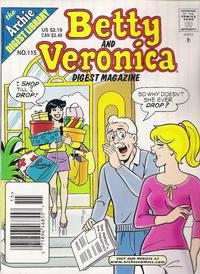 Cover Thumbnail for Betty and Veronica Comics Digest Magazine (Archie, 1983 series) #115