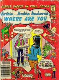 Cover Thumbnail for Archie... Archie Andrews Where Are You? Comics Digest Magazine (Archie, 1977 series) #2