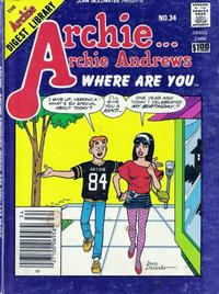 Cover Thumbnail for Archie... Archie Andrews Where Are You? Comics Digest Magazine (Archie, 1977 series) #34
