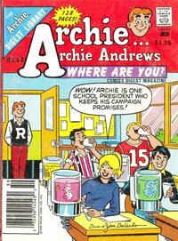 Cover Thumbnail for Archie... Archie Andrews, Where Are You? Comics Digest Magazine (Archie, 1977 series) #59