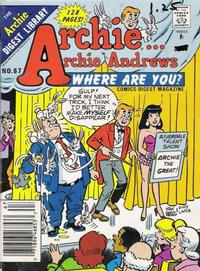Cover Thumbnail for Archie... Archie Andrews Where Are You? Comics Digest Magazine (Archie, 1977 series) #67