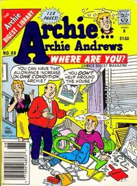 Cover Thumbnail for Archie... Archie Andrews Where Are You? Comics Digest Magazine (Archie, 1977 series) #68 [Newsstand]
