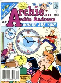 Cover Thumbnail for Archie... Archie Andrews Where Are You? Comics Digest Magazine (Archie, 1977 series) #71