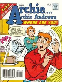Cover Thumbnail for Archie... Archie Andrews Where Are You? Comics Digest Magazine (Archie, 1977 series) #98 [Direct Edition]