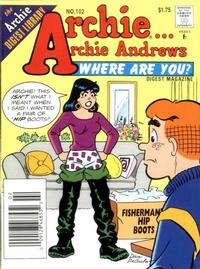 Cover Thumbnail for Archie... Archie Andrews Where Are You? Comics Digest Magazine (Archie, 1977 series) #102