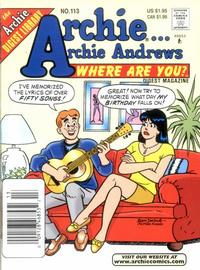 Cover Thumbnail for Archie... Archie Andrews Where Are You? Comics Digest Magazine (Archie, 1977 series) #113