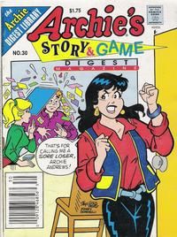 Cover Thumbnail for Archie's Story & Game Digest Magazine (Archie, 1986 series) #30