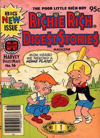 Cover Thumbnail for Richie Rich Digest Stories (Harvey, 1977 series) #16