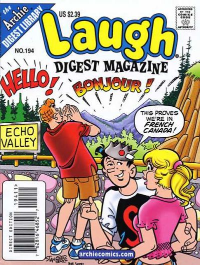 Cover for Laugh Comics Digest (Archie, 1974 series) #194