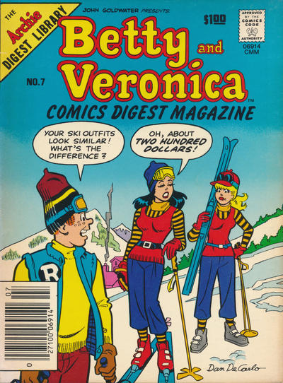 Cover for Betty and Veronica Comics Digest Magazine (Archie, 1983 series) #7