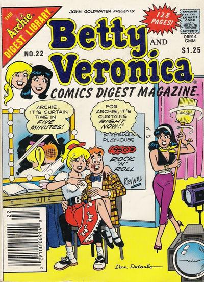 Cover for Betty and Veronica Comics Digest Magazine (Archie, 1983 series) #22