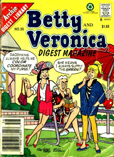 Cover for Betty and Veronica Comics Digest Magazine (Archie, 1983 series) #56