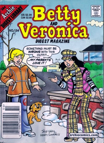 Cover for Betty and Veronica Comics Digest Magazine (Archie, 1983 series) #154