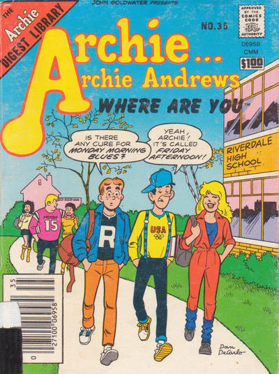 Cover for Archie... Archie Andrews Where Are You? Comics Digest Magazine (Archie, 1977 series) #35