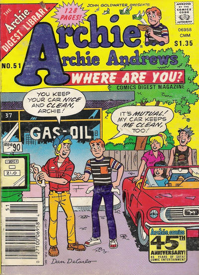 Cover for Archie... Archie Andrews Where Are You? Comics Digest Magazine (Archie, 1977 series) #51