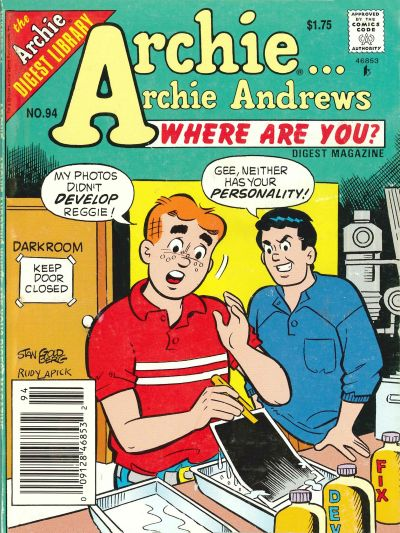 Cover for Archie... Archie Andrews Where Are You? Comics Digest Magazine (Archie, 1977 series) #94 [Newsstand]