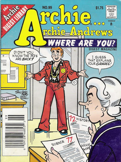 Cover for Archie... Archie Andrews Where Are You? Comics Digest Magazine (Archie, 1977 series) #99