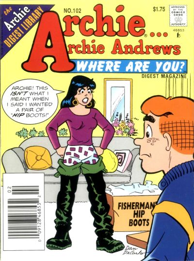 Cover for Archie... Archie Andrews Where Are You? Comics Digest Magazine (Archie, 1977 series) #102