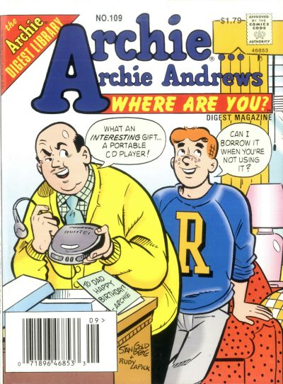 Cover for Archie... Archie Andrews Where Are You? Comics Digest Magazine (Archie, 1977 series) #109