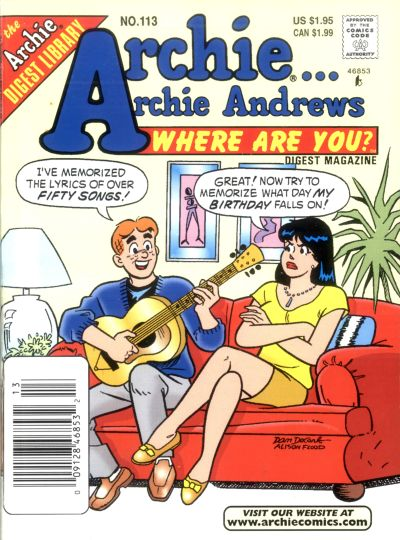 Cover for Archie... Archie Andrews Where Are You? Comics Digest Magazine (Archie, 1977 series) #113