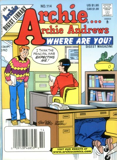 Cover for Archie... Archie Andrews Where Are You? Comics Digest Magazine (Archie, 1977 series) #114
