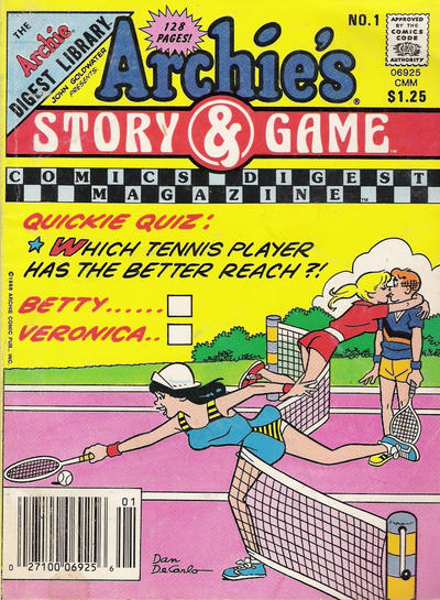Cover for Archie's Story & Game Digest Magazine (Archie, 1986 series) #1
