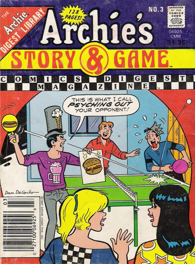 Cover for Archie's Story & Game Digest Magazine (Archie, 1986 series) #3