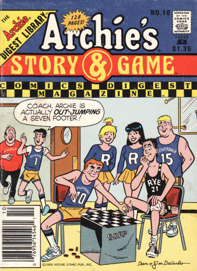 Cover for Archie's Story & Game Digest Magazine (Archie, 1986 series) #10 [Direct]