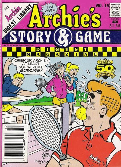 Cover for Archie's Story & Game Digest Magazine (Archie, 1986 series) #19 [Newsstand]