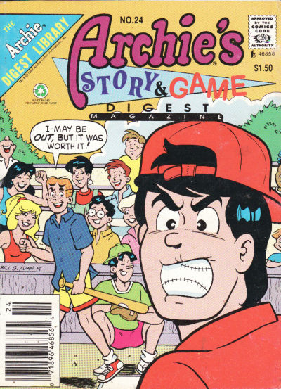 Cover for Archie's Story & Game Digest Magazine (Archie, 1986 series) #24
