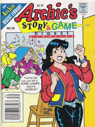 Cover for Archie's Story & Game Digest Magazine (Archie, 1986 series) #30