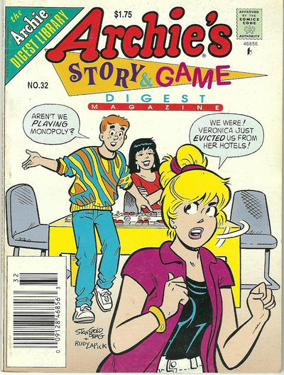 Cover for Archie's Story & Game Digest Magazine (Archie, 1986 series) #32