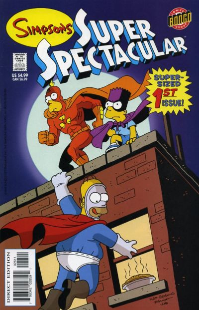 Cover for Bongo Comics Presents Simpsons Super Spectacular (Bongo, 2005 series) #1