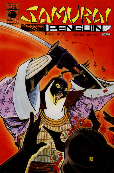 Cover for Samurai Penguin (Slave Labor, 1986 series) #5