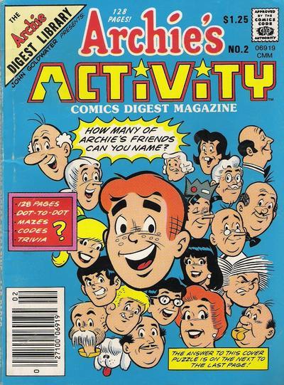 Cover for Archie's Activity Comics Digest Magazine (Archie, 1985 series) #2