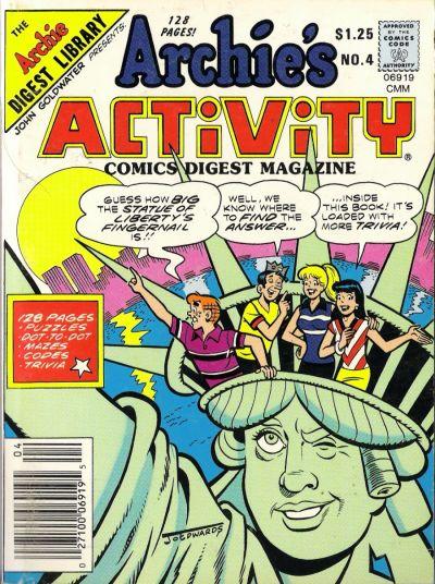 Cover for Archie's Activity Comics Digest Magazine (Archie, 1985 series) #4