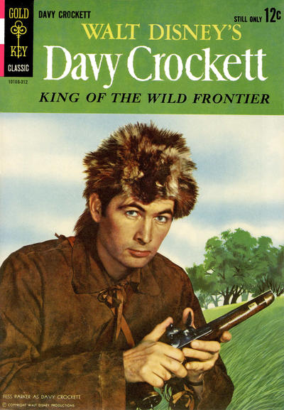 Cover for Walt Disney's Davy Crockett King of the Wild Frontier (Western, 1963 series) #[nn]