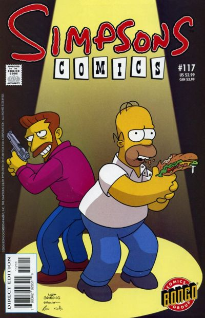 Cover for Simpsons Comics (Bongo, 1993 series) #117
