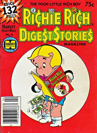 Cover for Richie Rich Digest Stories (Harvey, 1977 series) #4
