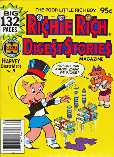 Cover for Richie Rich Digest Stories (Harvey, 1977 series) #9