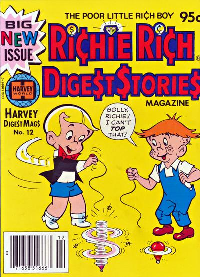 Cover for Richie Rich Digest Stories (Harvey, 1977 series) #12
