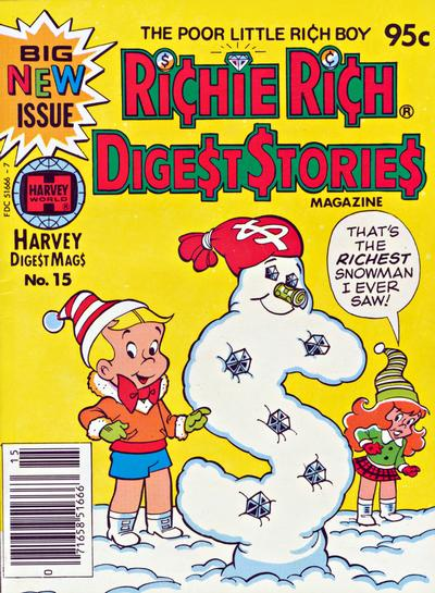 Cover for Richie Rich Digest Stories (Harvey, 1977 series) #15