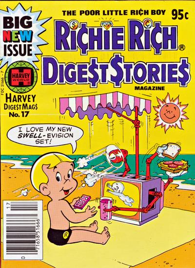 Cover for Richie Rich Digest Stories (Harvey, 1977 series) #17