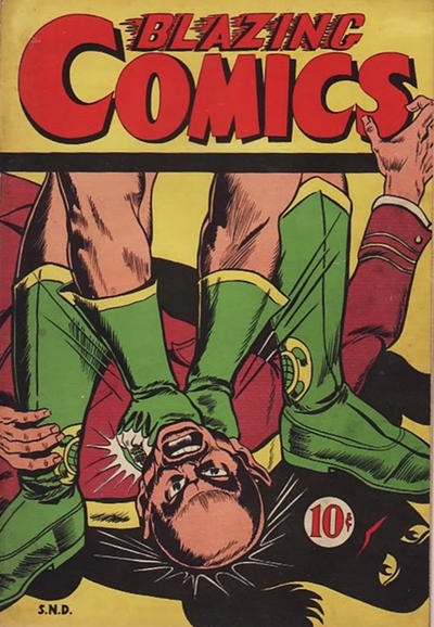 Cover for Blazing Comics (Superior Publishers Limited, 1946 series) #1