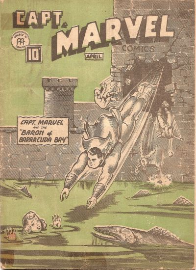 Cover for Captain Marvel Comics (Anglo-American Publishing Company Limited, 1942 series) #v3#4