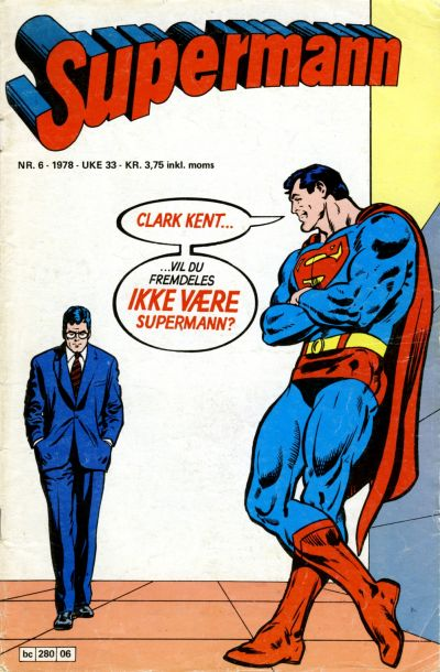Cover for Supermann (Semic, 1977 series) #6/1978