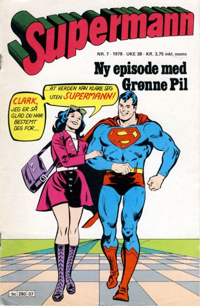 Cover for Supermann (Semic, 1977 series) #7/1978