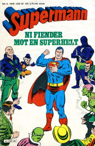 Cover for Supermann (Semic, 1977 series) #8/1978